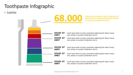 Toothpaste Infographic Presentation Template, Master Slide