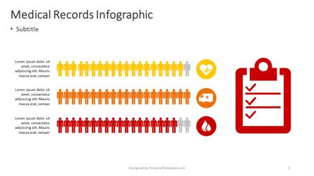 Medical Records Infographic Presentation Template, Master Slide
