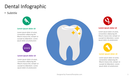 Dental Infographic Presentation Template, Master Slide