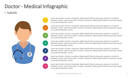 Doctor - Medical Infographic Presentation Template, Master Slide