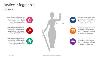 Justice Infographic Presentation Template, Master Slide
