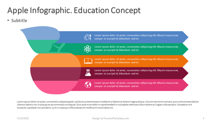 Apple Infographic Education Concept Presentation Template, Master Slide