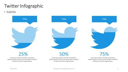 Twitter Infographic Presentation Template, Master Slide