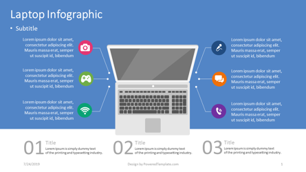 Laptop Infographic Presentation Template, Master Slide