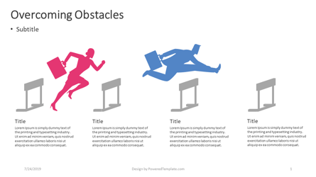 Overcoming Obstacles Presentation Template, Master Slide