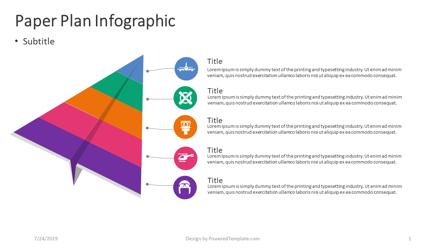 Paper Plane Infographic Presentation Template, Master Slide