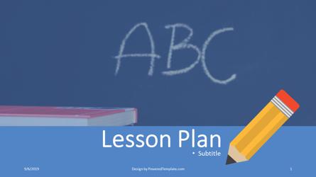 Lesson Plan Presentation Template, Master Slide