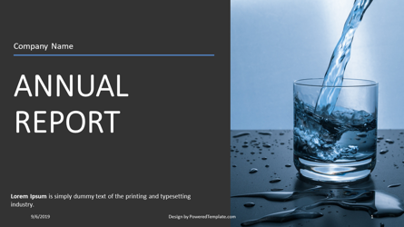 Nonprofit Annual Report Presentation Template, Master Slide