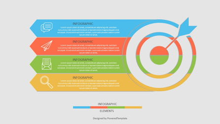 Target with Four Options Infographic Presentation Template, Master Slide