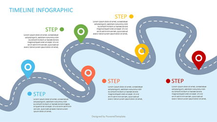Roadmap with Milestones Infographic Presentation Template, Master Slide