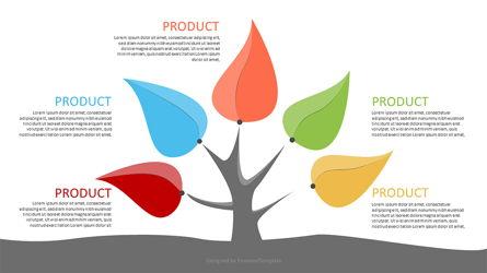 Five Product Options Infographics Presentation Template, Master Slide