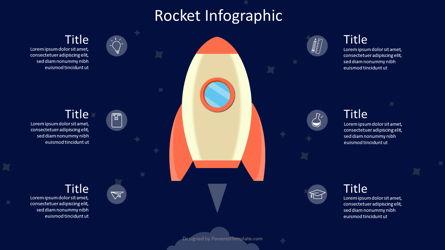 Rocket Infographic Concept Presentation Template, Master Slide