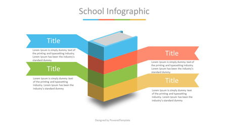 Book Infographic with Options Presentation Template, Master Slide