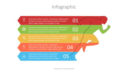 Running Man Infographic Presentation Template, Master Slide