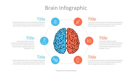 Hemispheres of Brain Infographic Presentation Template, Master Slide