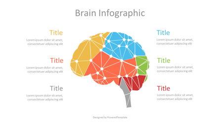 Cybernetic Brain Lobes Infographic Presentation Template, Master Slide