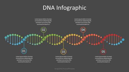 DNA Timeline Infographic Presentation Template, Master Slide