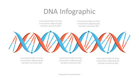 Abstract DNA Infographic Presentation Template, Master Slide