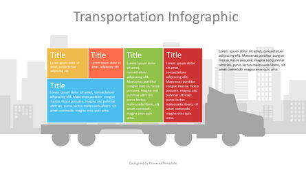 Container Truck Infographic Presentation Template, Master Slide
