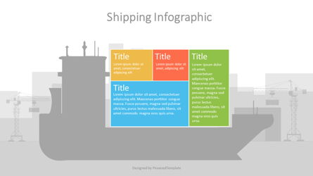 Container Ship Infographic Presentation Template, Master Slide