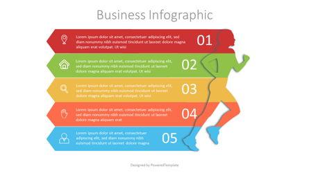 Running Woman Infographic Presentation Template, Master Slide