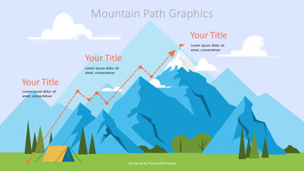 Route to the Top Graphics Presentation Template, Master Slide