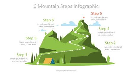 Six Mountain Steps Graphics Presentation Template, Master Slide