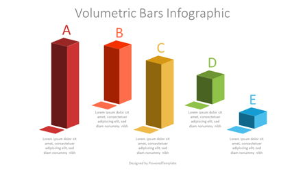 Volumetric Bars Infographic Presentation Template, Master Slide