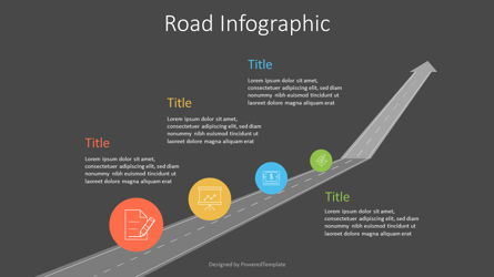 Upward Arrow Roadmap Presentation Template, Master Slide
