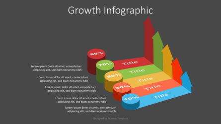 Growth Concept Infographic Presentation Template, Master Slide