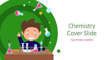 Chemistry Cover Slide Presentation Template, Master Slide