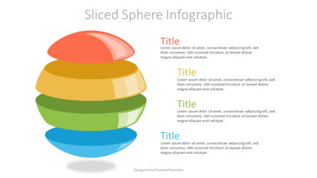 Sliced Sphere Infographic Presentation Template, Master Slide