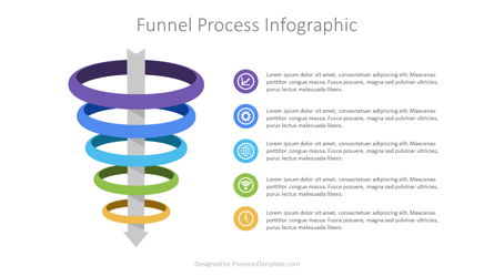 Funnel Process Infographic Presentation Template, Master Slide