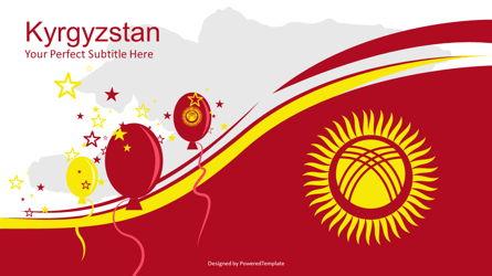 Kyrgyzstan Independence Day Cover Slide Presentation Template, Master Slide