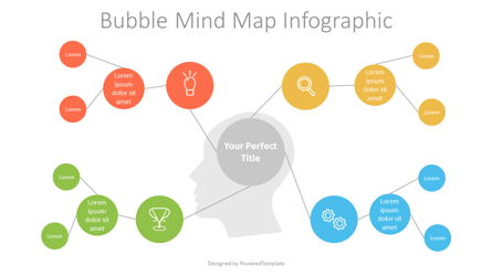 Bubble Mind Map Diagram Presentation Template, Master Slide