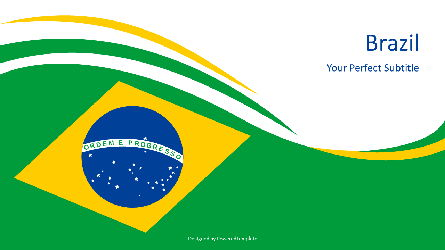 Brazil National Flag Presentation Template, Master Slide