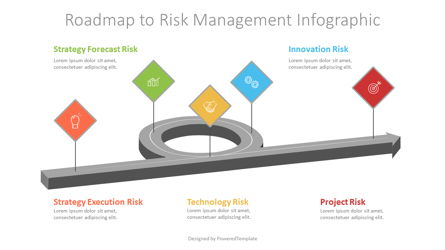 Roadmap to Risk Management Infographic Presentation Template, Master Slide