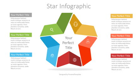 Colorful Star Infographic Presentation Template, Master Slide
