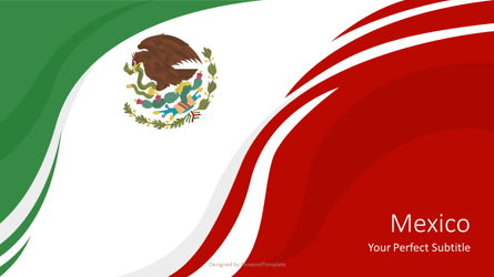 National Flag of Mexico Presentation Template, Master Slide