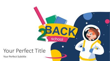 Back 2 School Cover Slide Presentation Template, Master Slide