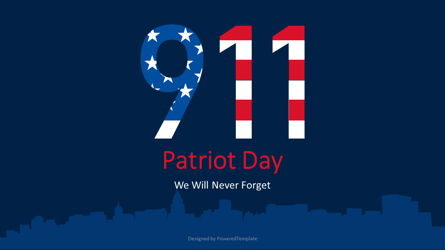 Patriot Day - We Will Never Forget Presentation Template, Master Slide