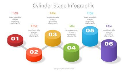 Cylinder Stage Infographic Presentation Template, Master Slide