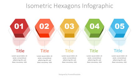 Isometric Hexagon Options Presentation Template, Master Slide