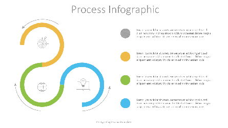 3 Stage Process Infographic Presentation Template, Master Slide