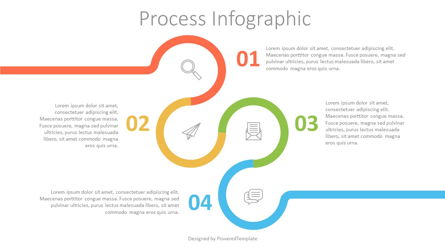 Circle with Numbered Options Infographics Presentation Template, Master Slide