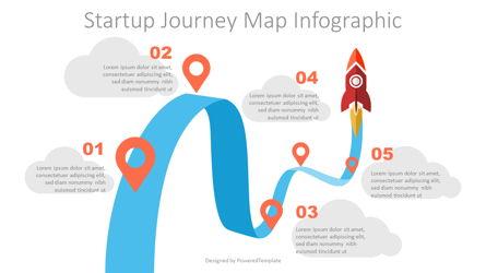 Startup Journey Map Infographic Presentation Template, Master Slide