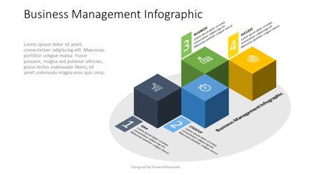 4 Isometric Cube Infographic Presentation Template, Master Slide