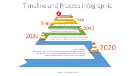 Winding to Horizon Roadmap Infographic Presentation Template, Master Slide