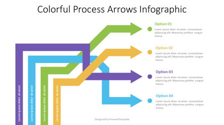 Intertwined Arrows Infographic Presentation Template, Master Slide