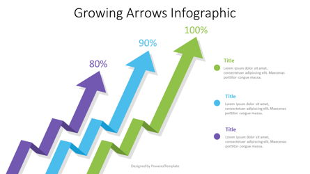 Growing Arrows Infographic Presentation Template, Master Slide